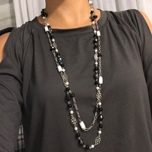 Lia Sophia double strand necklace.